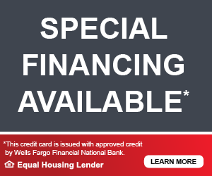 Special financing is available through Wells Fargo. Click to learn more.