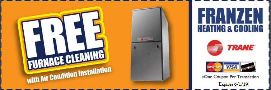 Get a free furnace cleanining with any air condition installation using this coupon