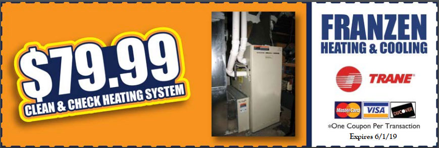 Use this coupon to receive a heating system cleaning and check up for just 79.99