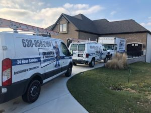 Franzen fleet at a furnace and air coditioning installation in Downers Grove